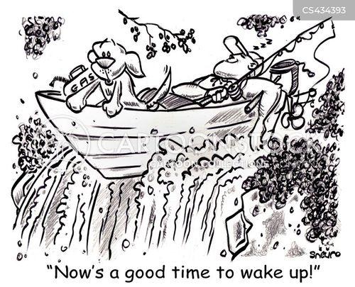 water-falls cartoon