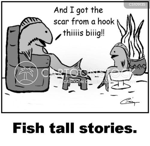 fish hooks cartoon