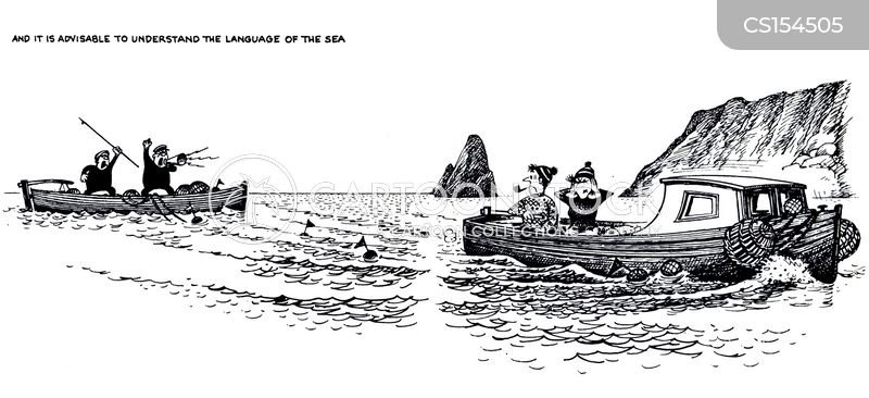 language of sea cartoon