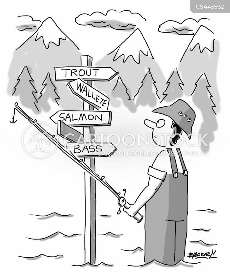 direction signs cartoon