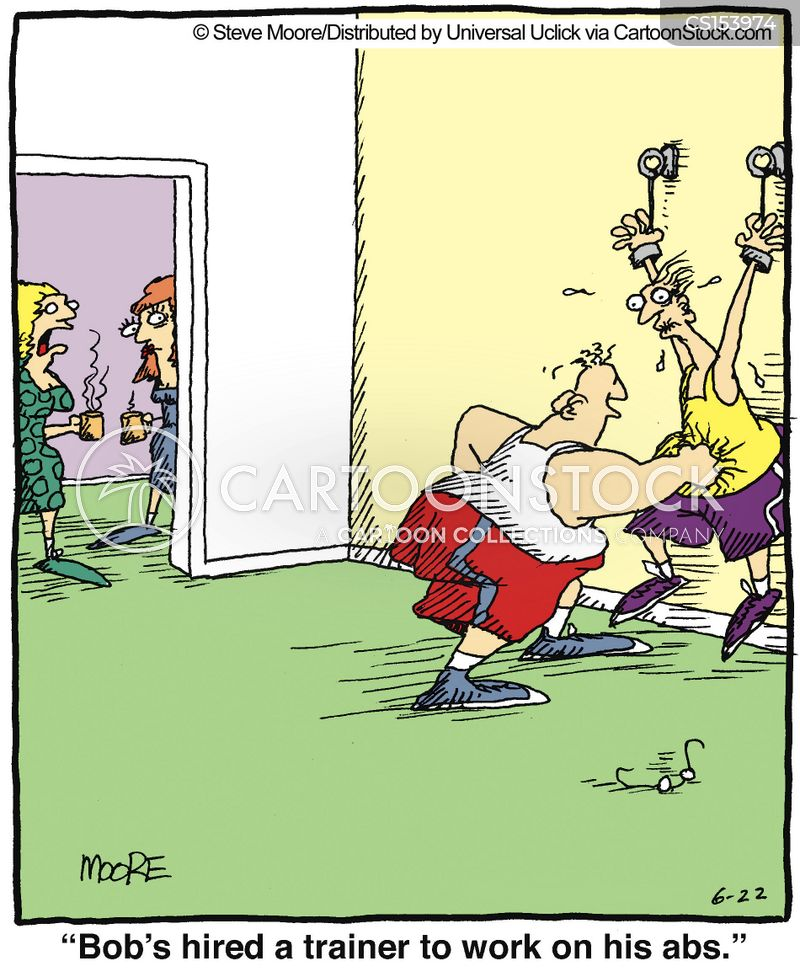works out cartoon