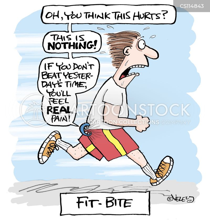 fitness training cartoon