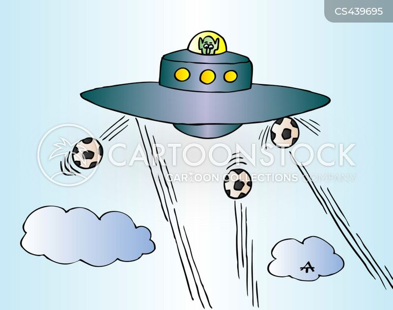 alien football soccer balls cartoons and comics funny pictures from cartoonstock