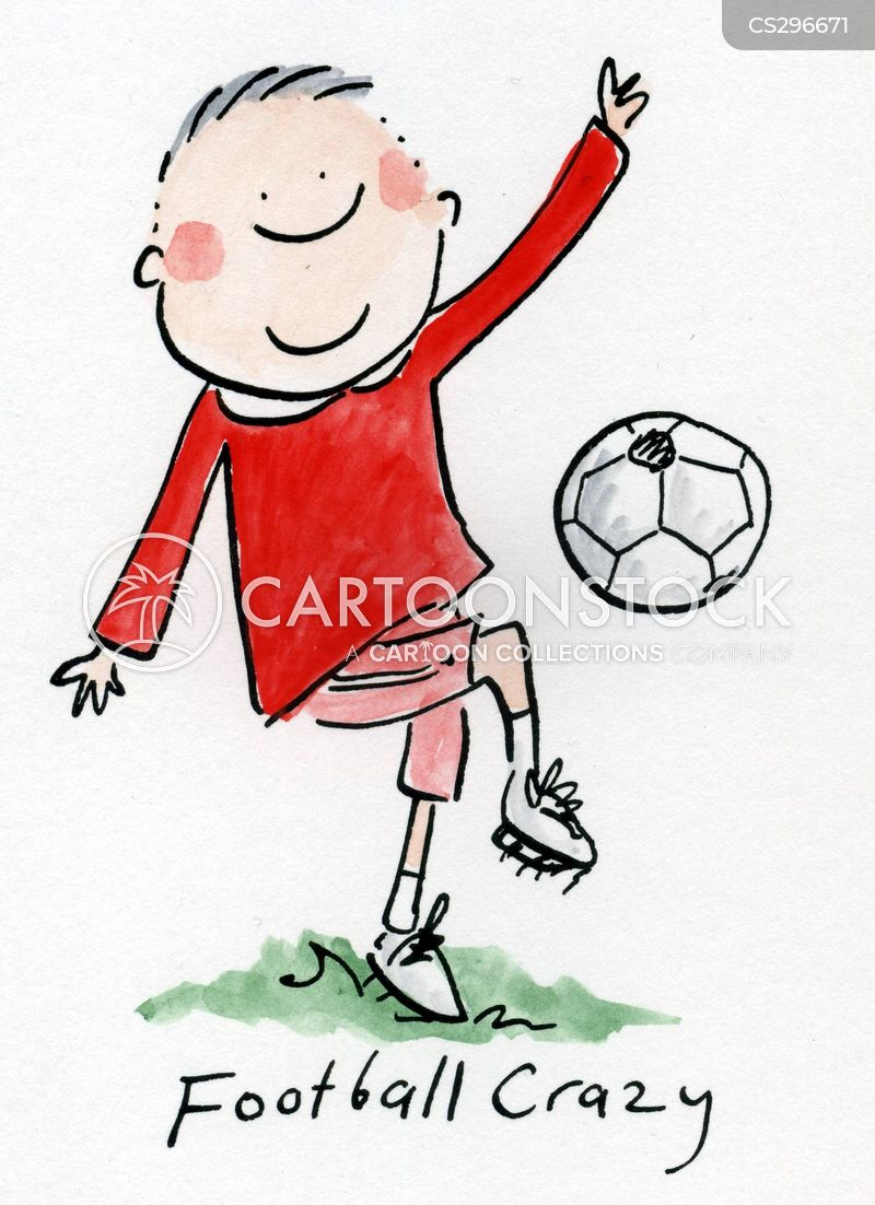 football crazy cartoon