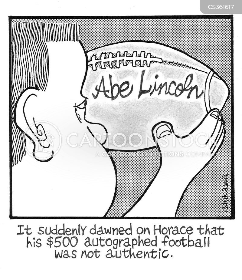 signed cartoon