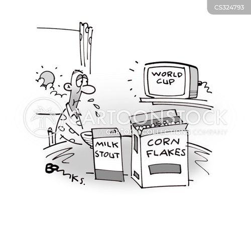 corn flakes cartoon