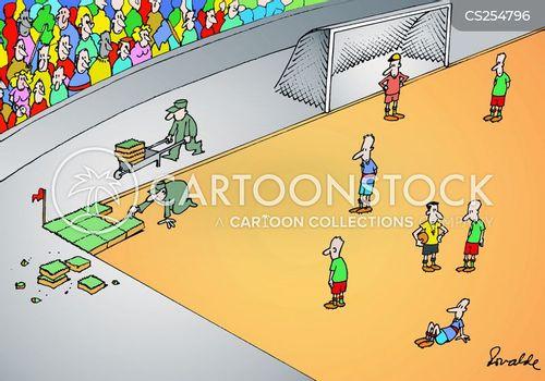 football pitches cartoon