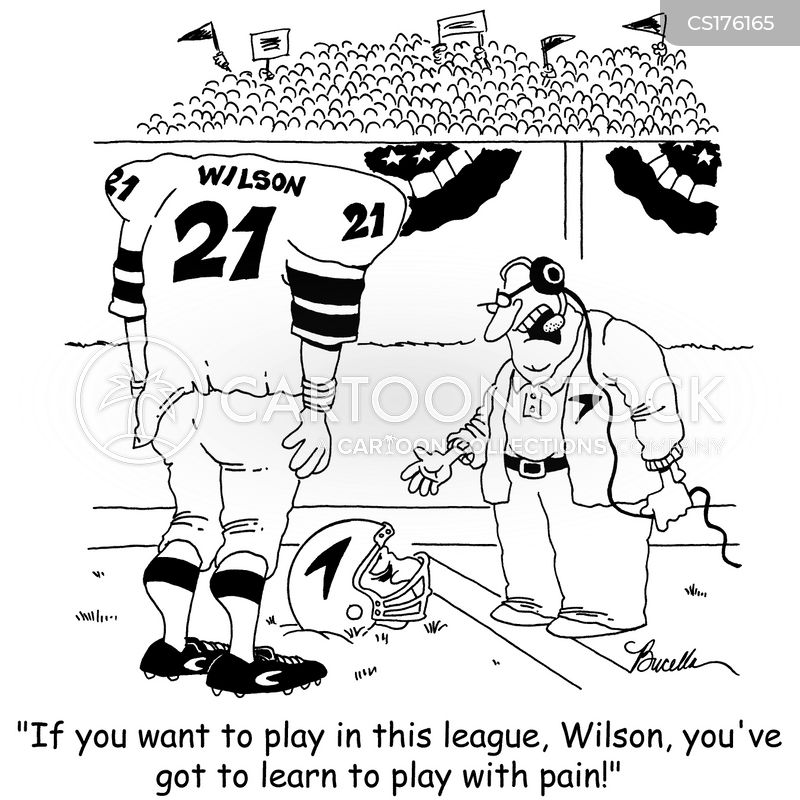 american footballer cartoon