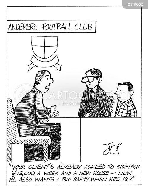 wanderers cartoon