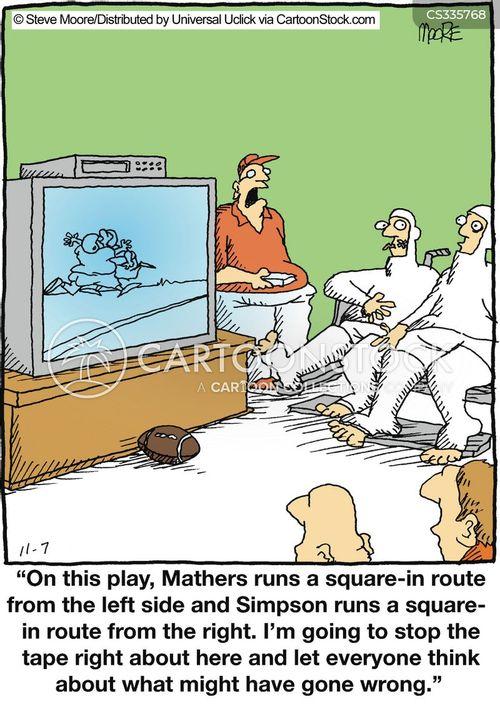 tackling cartoon
