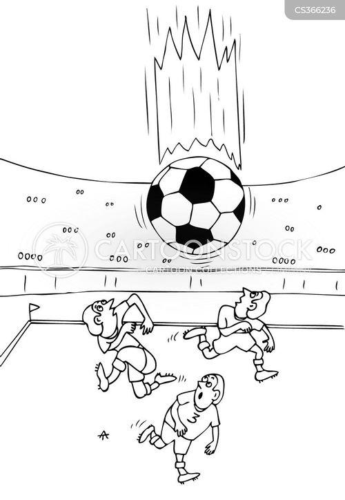 soccer matches cartoon
