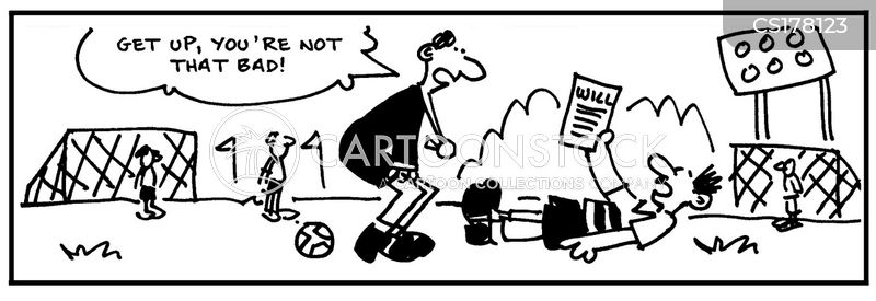 soccer players cartoon