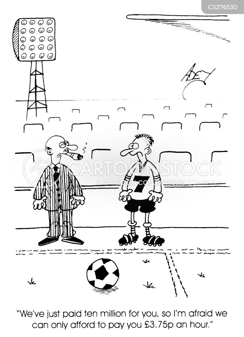 football star cartoon