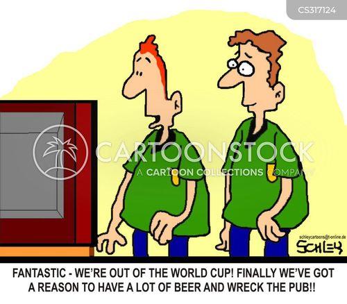 football hooligans cartoon