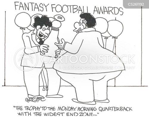 professional football cartoon