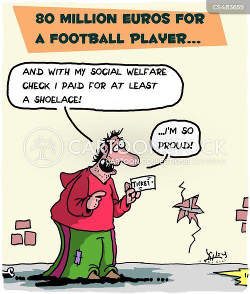 welfare check cartoon