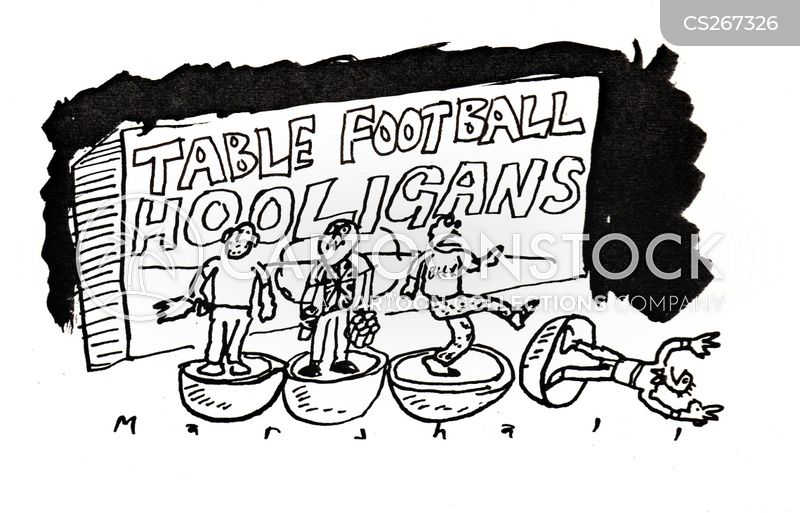 football thugs cartoon
