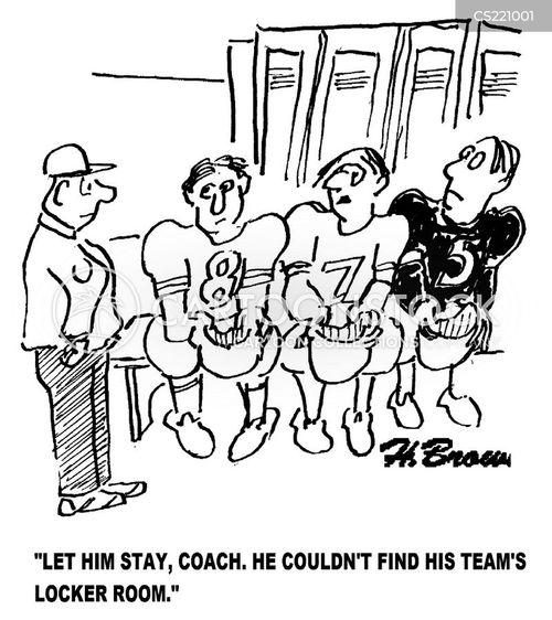 locker rooms cartoon