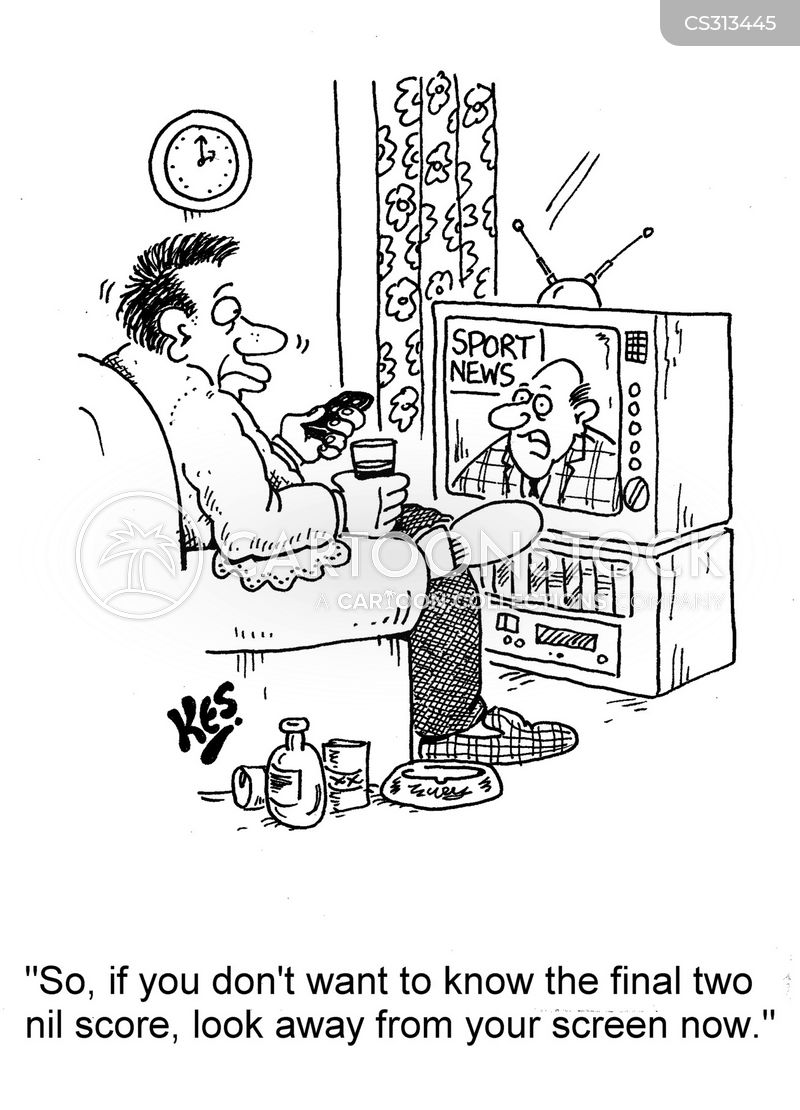 football scores cartoon