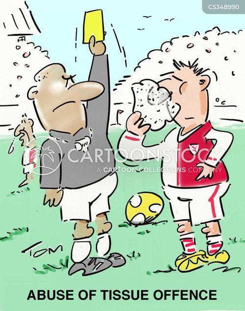 red cards cartoon