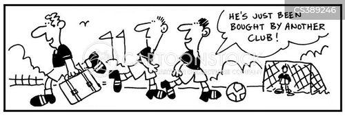 football industry cartoon