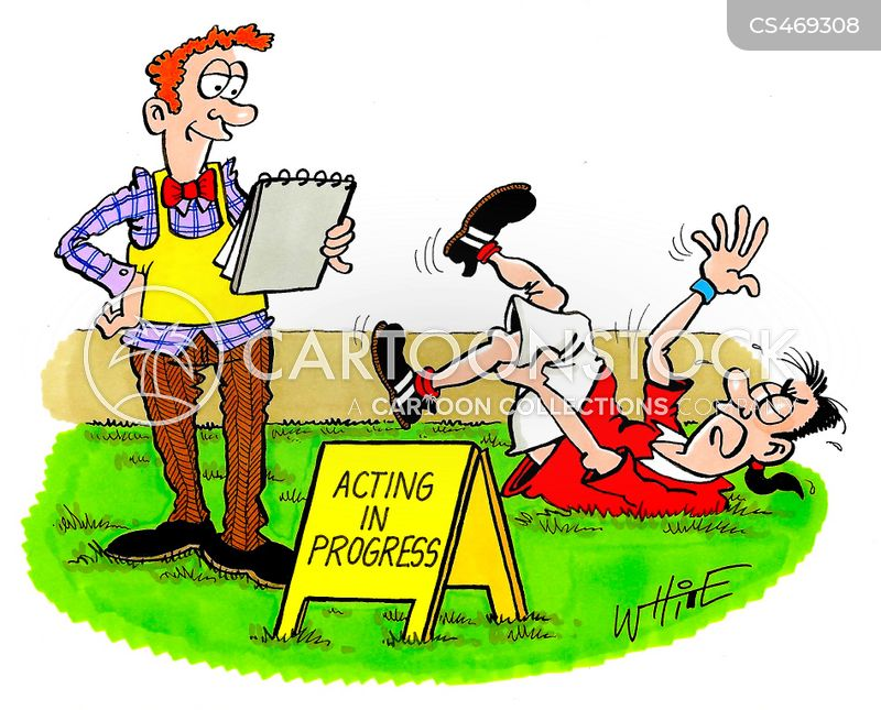 acting coach cartoon