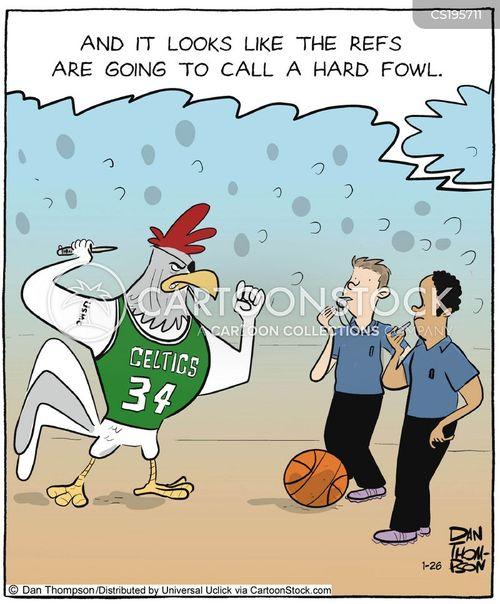 basketball game cartoon