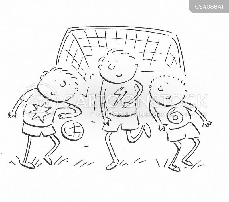 5 a side cartoon