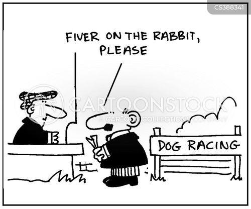 dog race cartoon