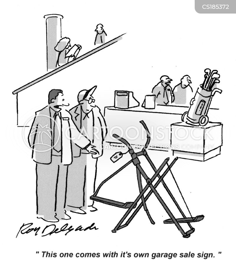 exercise equipment cartoon