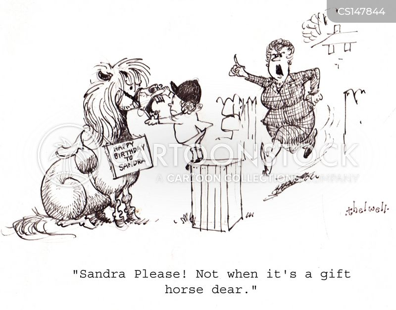 Never Look A Gift Horse In The Mouth Cartoons and Comics - funny ...