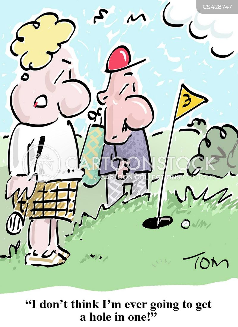 female golfer cartoon