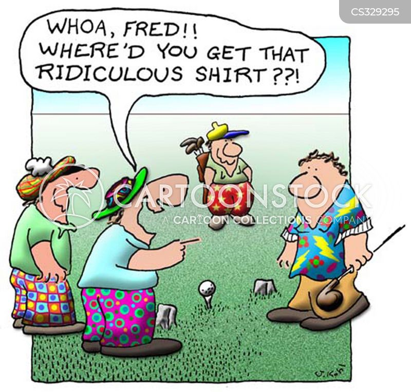 Golf Shirt Cartoons And Comics Funny Pictures From Cartoonstock
