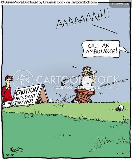 golfed cartoon
