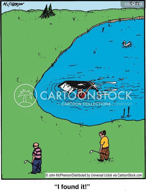 water traps cartoon