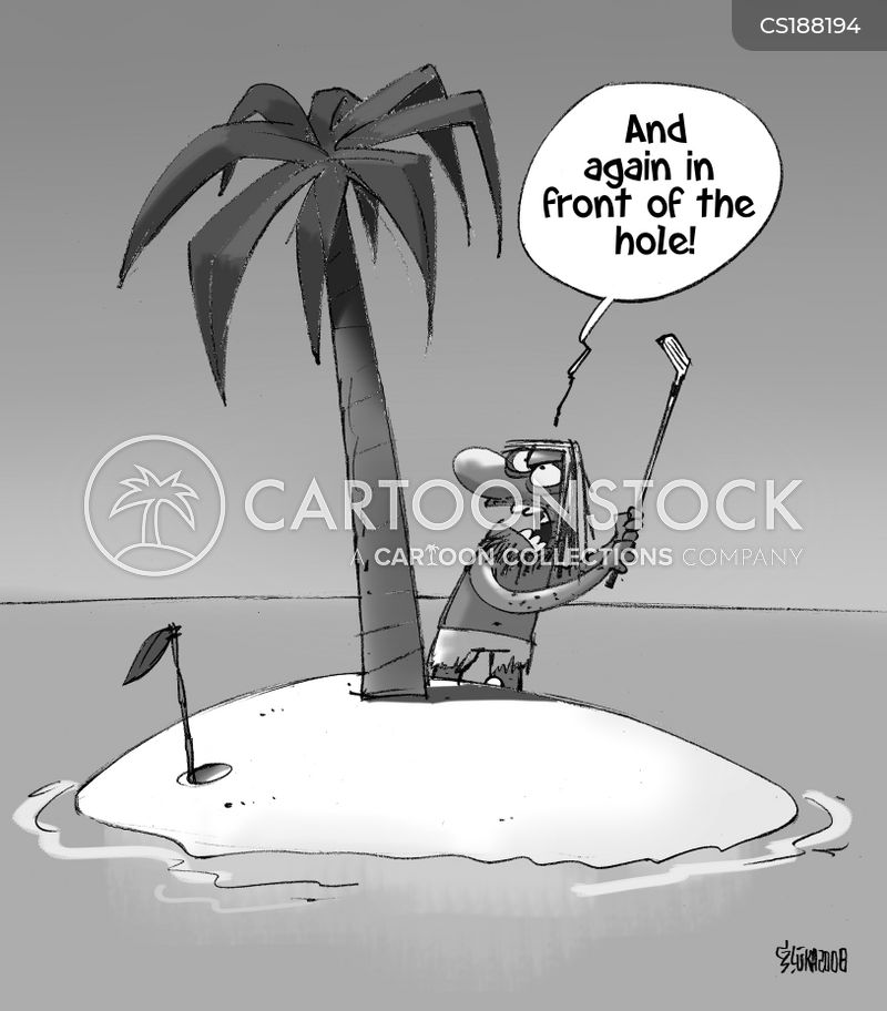 in front of the hole cartoon