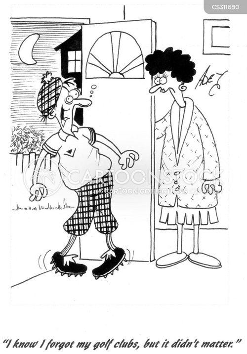 golf-course cartoon