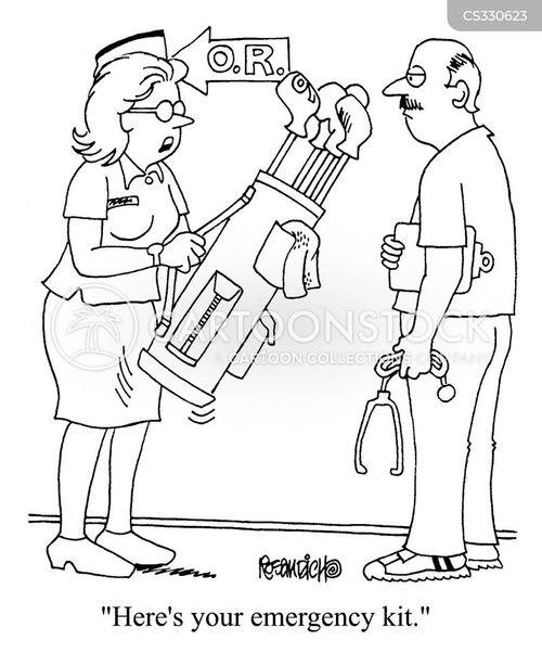 emergency kits cartoon