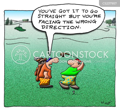 wrong direction cartoon