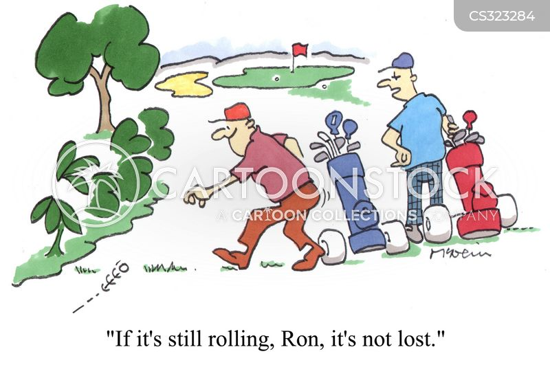 lost golf balls cartoon