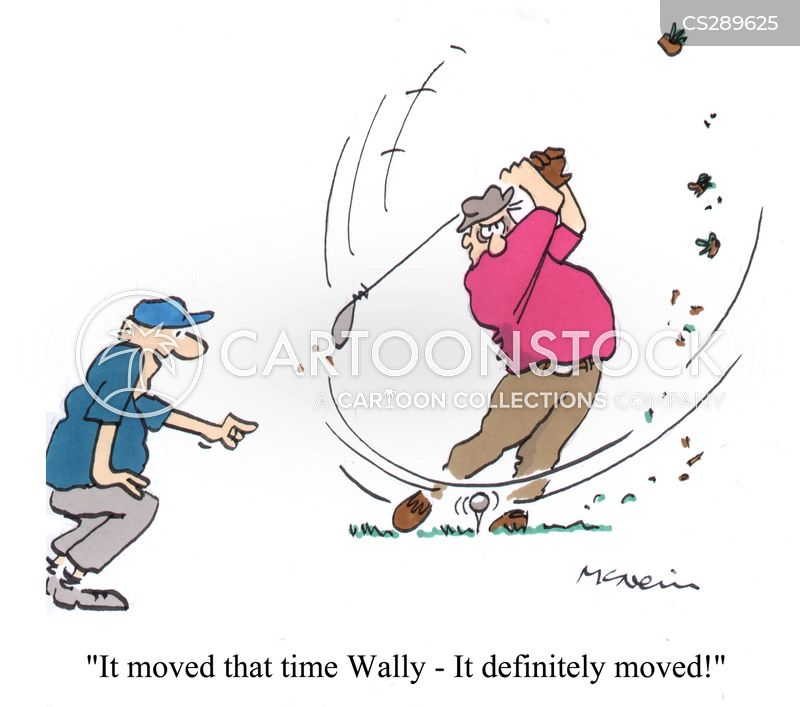 golf swing cartoon