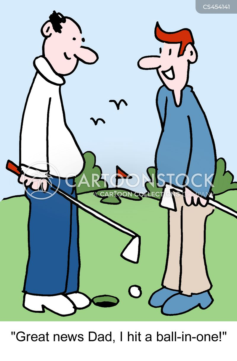 hole in one cartoon
