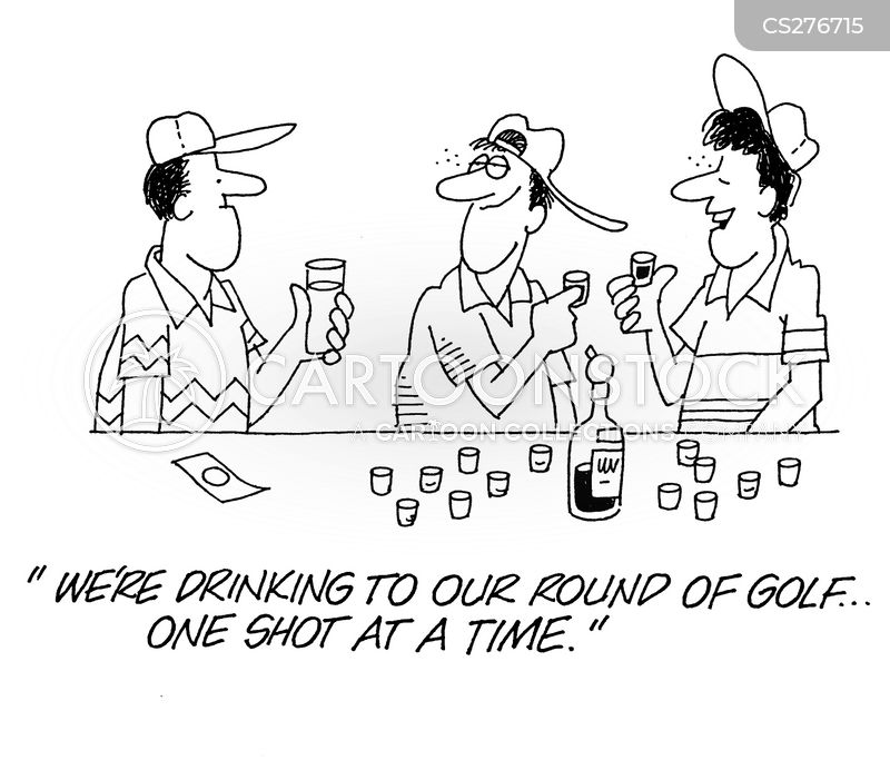 round of golf cartoon