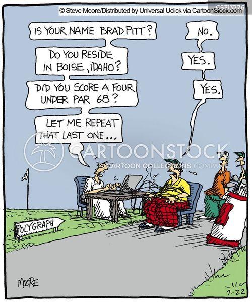 lie detector cartoon