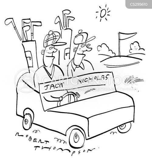 golf open cartoon