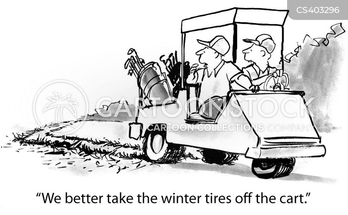 winter tyre cartoon