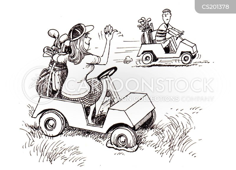 Golf Cart Cartoons And Comics Funny Pictures From Cartoonstock