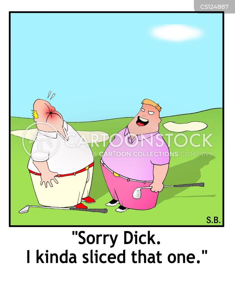 golfing injury cartoon