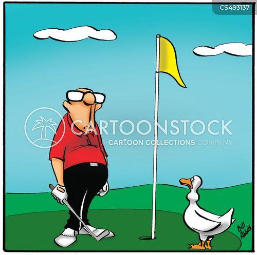 golfing greens cartoon