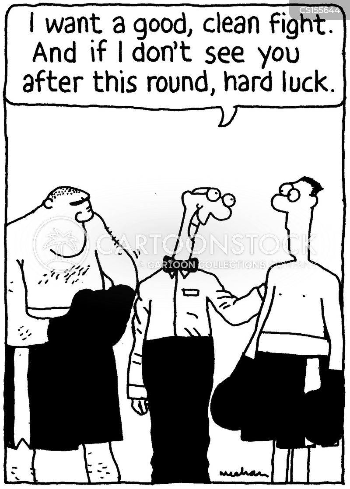the big fight cartoon